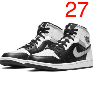 NIKE - NIKE AIR JORDAN1 MID WHITE SHADOW ジョーダン1