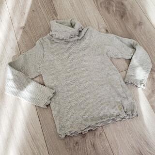 プチバトー(PETIT BATEAU)のプチバトー タートルネック インナー トップス 長袖(Tシャツ/カットソー)