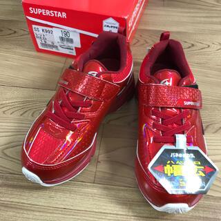 SUPERSTAR - SUPERSTAR キッズスニーカー レッド 19cm 11.27★029