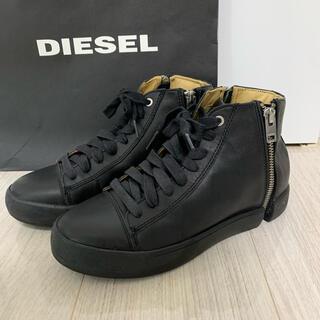 DIESEL - DIESEL ディーゼル スニーカー レザー 黒