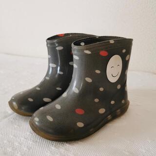 アニエスベー(agnes b.)の日本製 アニエスベー agnes b フェイス柄 レインブーツ 長靴 14.0(長靴/レインシューズ)