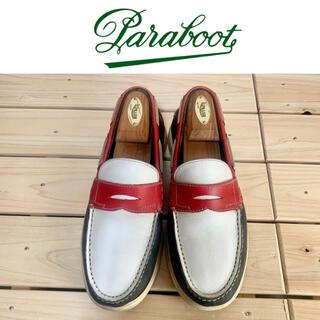 パラブーツ(Paraboot)の名門❗️ 《パラブーツ×BEAMS》デッキシューズCorsicaトリコロール(デッキシューズ)