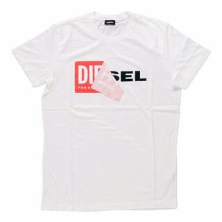 ディーゼル(DIESEL)の偽なら返金 本物保証 DIESEL TーDIEGOーQA Tシャツ ホワイト L(Tシャツ/カットソー(半袖/袖なし))