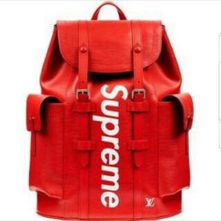 LOUIS VUITTON - 赤 Louis Vuitton x Supreme リュック
