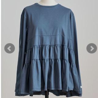 yori ブルーグレーMサイズランダムティアードフレアー定価12100円
