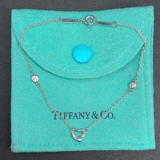 Tiffany & Co. - 美品 ティファニー オープンハート バイザヤード ダイヤ ブレスレット 2PD