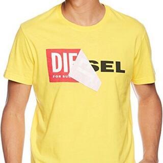 ディーゼル(DIESEL)の偽なら返金 本物保証 DIESEL TーDIEGOーQA Tシャツ イエロー M(Tシャツ/カットソー(半袖/袖なし))