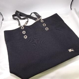 バーバリーブルーレーベル(BURBERRY BLUE LABEL)のバーバリーブルーレーベルキャンバス×レザートート黒(トートバッグ)