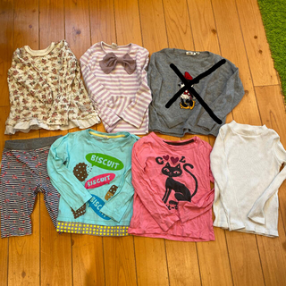 ビケット(Biquette)の女の子 カットソー 110 7点セット(Tシャツ/カットソー)