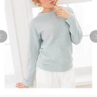 ユメテンボウ(夢展望)のガーター編みニット ブルー系(ニット/セーター)