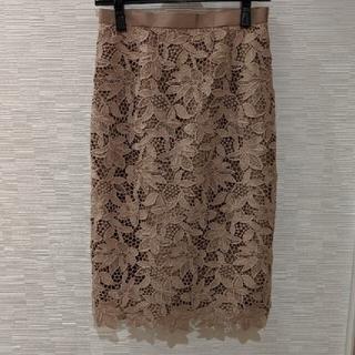 JUSGLITTY - 新品タグ付き JUSGLITTY ケミカルレースタイトスカート