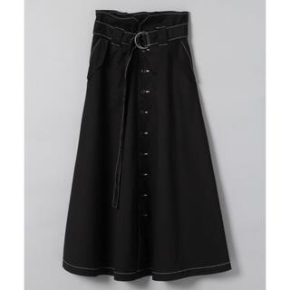 JEANASIS - ジーナシス ★前ボタン ミリタリースカート 美品