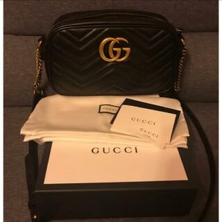 Gucci - 超レア‼︎ 新品 GUCCI GGマーモント ショルダーバッグ ミニ ブラック