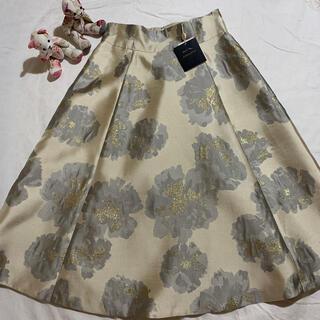 JUSGLITTY - *ジャスグリッティー*新品タグ付大花ジャガードフレアスカート2