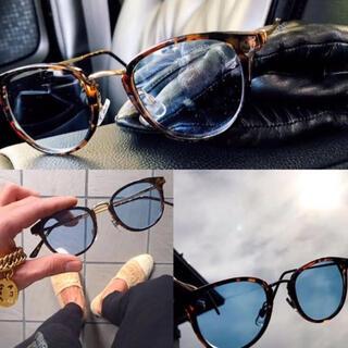 高級 ボストン ブルーレンズ カラーレンズ サングラス メンズ カラーサングラス