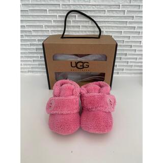 アグ(UGG)の美品 UGG アグ ボアブーツ ベビーシューズ ピンク(ブーツ)