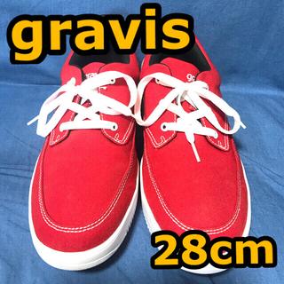 グラビス(gravis)のgravis HARVEY 28.0cm 赤×白 匿名配送(スニーカー)
