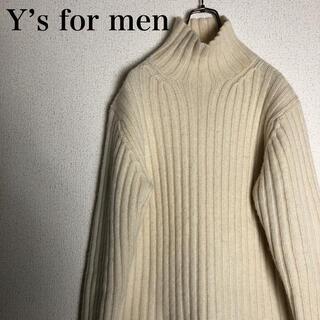 ワイズ(Y's)のY's for men コットンリブ編み タートルネックニット サイズ3(ニット/セーター)