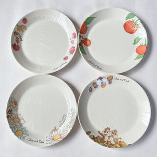 チップアンドデール(チップ&デール)のチップ&デール デザートプレート4枚セット(食器)