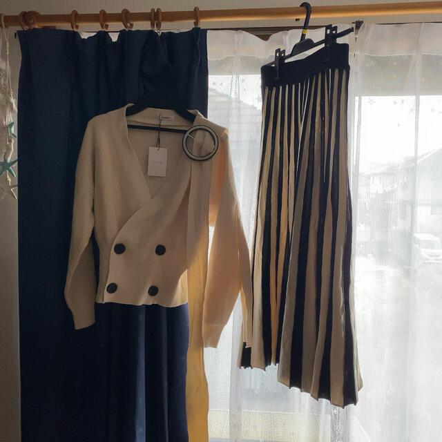 eimy istoire(エイミーイストワール)のromile ロミール カシュクールニット+スカートセット レディースのトップス(ニット/セーター)の商品写真