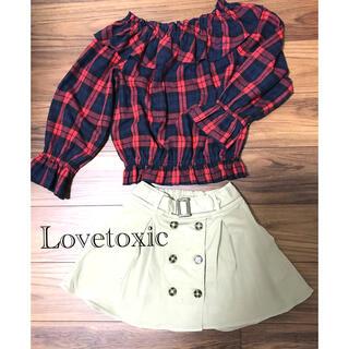 ラブトキシック(lovetoxic)の子供服 ジュニア服 LOVETOXIC ラブトキシック トップス(Tシャツ/カットソー)