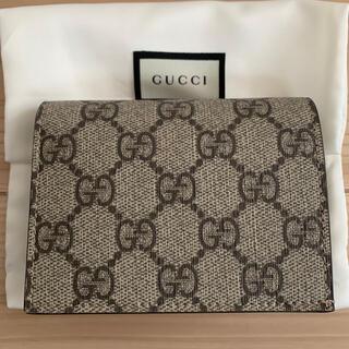 Gucci - GUCCI グッチ GGスプリーム カードケース 折り財布 ミニウォレット