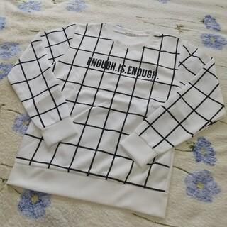 ウインド・ペンチェック長袖カットソー(Tシャツ/カットソー(七分/長袖))
