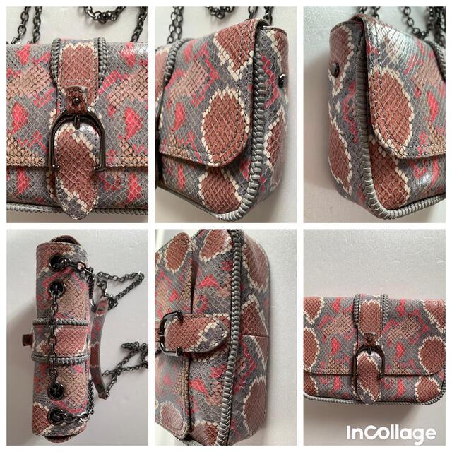LONGCHAMP(ロンシャン)の極美品◆ ロンシャン アマゾーヌパイソン  XS クロスボディバッグ チェーン レディースのバッグ(ショルダーバッグ)の商品写真