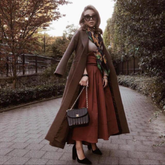 eimy istoire(エイミーイストワール)のeimy スリムロングコート ブラウン 即完売商品 レディースのジャケット/アウター(ロングコート)の商品写真