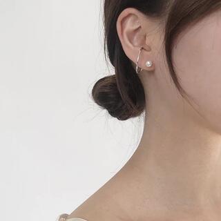 DEUXIEME CLASSE - ear-cuff pearl pierce ◯s925 post
