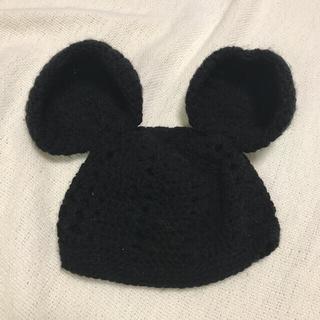 ニット 帽子 ネズミ ミッキー 80 男の子 女の子
