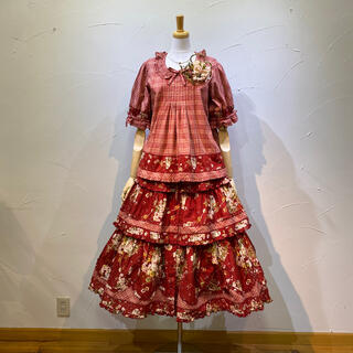 PINK HOUSE - ピンクハウス ブラウス&スカートのセット定価9万6800円でした。