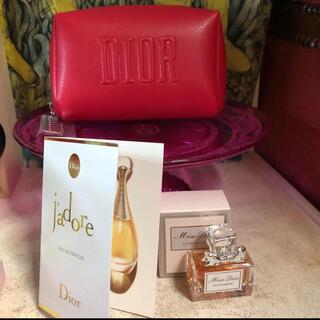Dior - ディオール 非売品 ポーチ ノベルティ miss DIOR 5ml ジャドール1