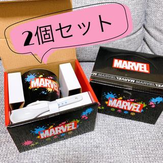 マーベル(MARVEL)のMARVEL スプーン付マグカップ 2セット(グラス/カップ)