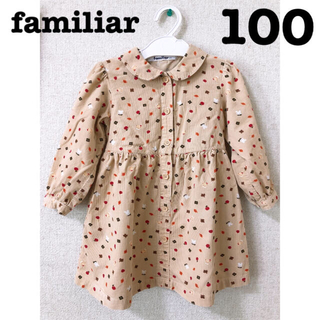 familiar - 可愛いすぎる♡♡familiar ワンピース100