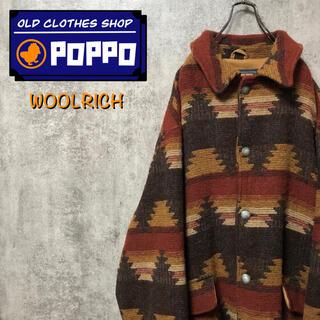 WOOLRICH - ウールリッチ☆USA製ネイティブ柄コンチョボタンビッグウールジャケット