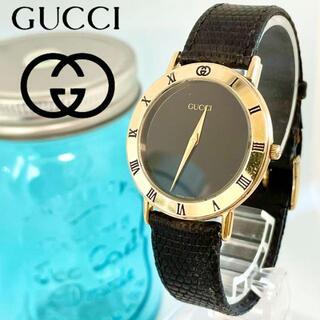 Gucci - 5 グッチ時計 メンズ腕時計 新品電池 新品ガラス オールド 3000M