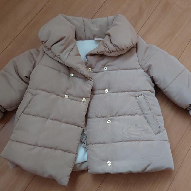 petit main(プティマイン)のプティマイン 中綿コート キャメル 90 キッズ/ベビー/マタニティのキッズ服女の子用(90cm~)(コート)の商品写真