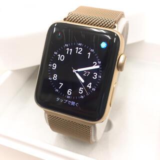 アップルウォッチ(Apple Watch)のApple Watch ゴールド レアカラー アップルウォッチ シリーズ2(腕時計(デジタル))