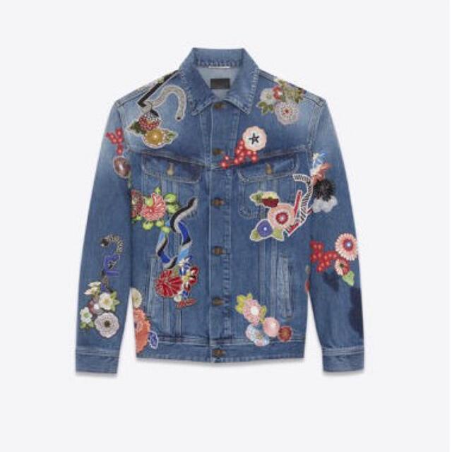 Saint Laurent(サンローラン)のsaint laurent LOVE デニムジャケット メンズのジャケット/アウター(Gジャン/デニムジャケット)の商品写真