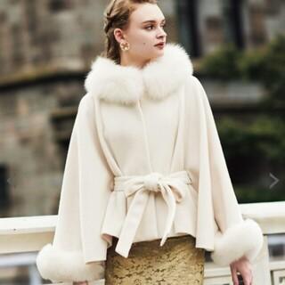 Noela - NOELA  フードファー付コート マントのコート  ホワイト