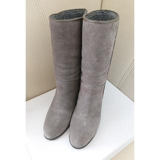 DIANA - ダイアナ アルテミス ブーツ インヒール グレー 24cm