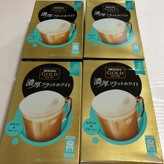 Nestle - ネスカフェ ゴールドブレンド 濃厚フラットホワイト 4箱分 28本