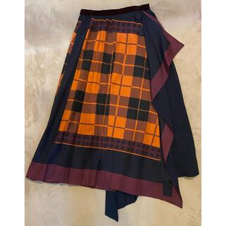 REDYAZEL - チェックスカーフ柄巻スカート