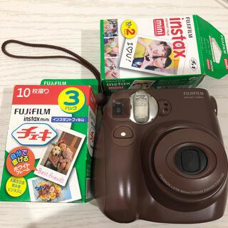 富士フイルム - チェキ本体 チョコ色 フィルム付き