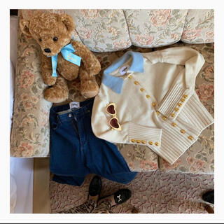 Lochie - epine gold button knit ivory