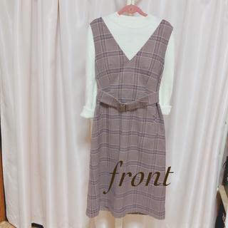 anySiS - 【anysis】美品 グレンチェックワンピース ジャンバースカート