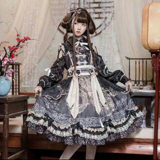 華ロリー 和ロリー 森ガール 高品質ドレス豪華セット(衣装一式)