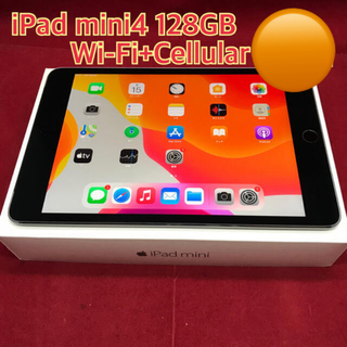 Apple -  iPad mini4 128GB Wi-Fi+Cellular