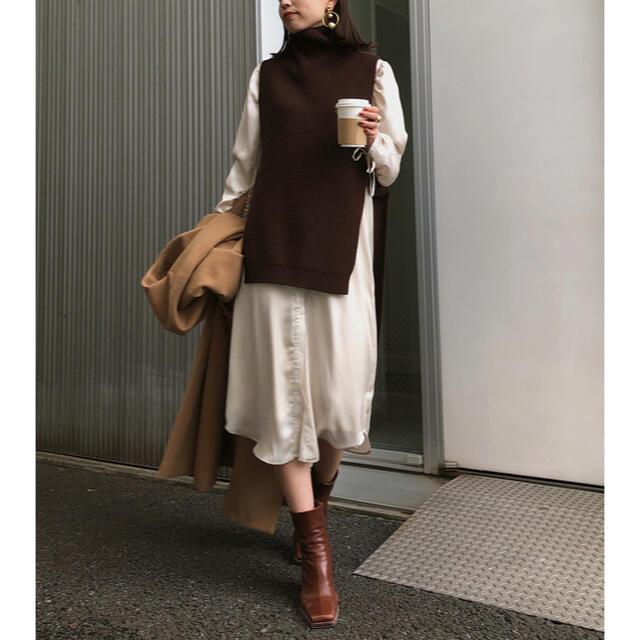 Ameri VINTAGE(アメリヴィンテージ)の【ameri vintage】VEST LAYERED SHIRT DRESS レディースのワンピース(ロングワンピース/マキシワンピース)の商品写真